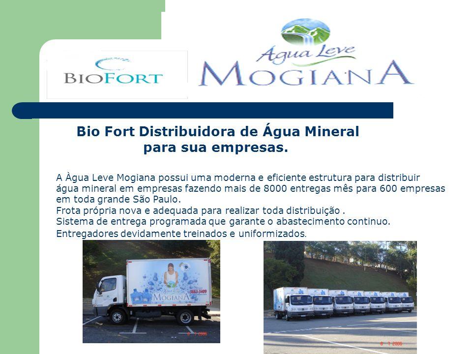 Bio Fort Distribuidora de Água Mineral para sua empresas. A Àgua Leve Mogiana possui uma moderna e eficiente estrutura para distribuir água mineral em