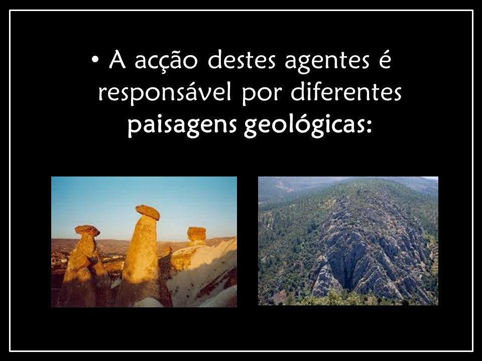 Paisagens Magmáticas: Paisagens Graníticas: Caos de Blocos (formam-se a partir do Granito.