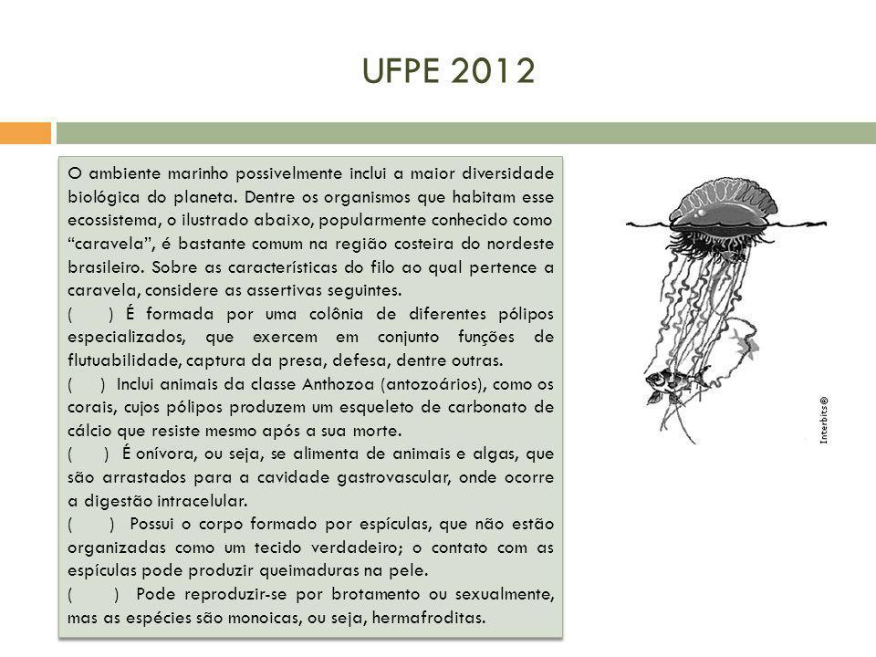 UFPE 2012 O ambiente marinho possivelmente inclui a maior diversidade biológica do planeta. Dentre os organismos que habitam esse ecossistema, o ilust