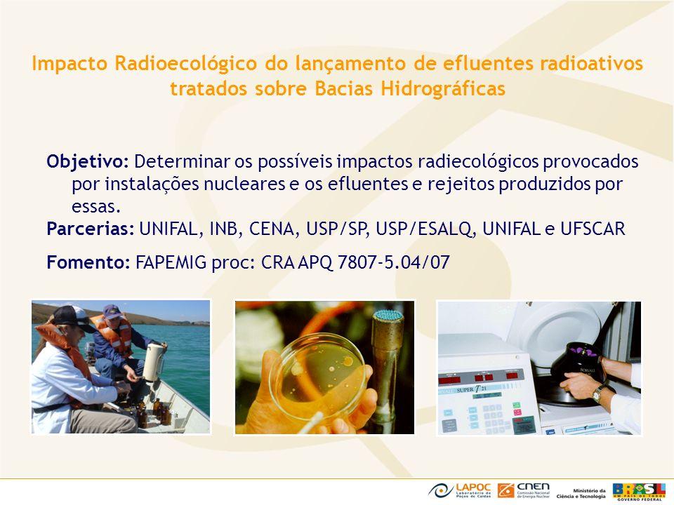 Objetivo: Determinar os possíveis impactos radiecológicos provocados por instalações nucleares e os efluentes e rejeitos produzidos por essas. Parceri