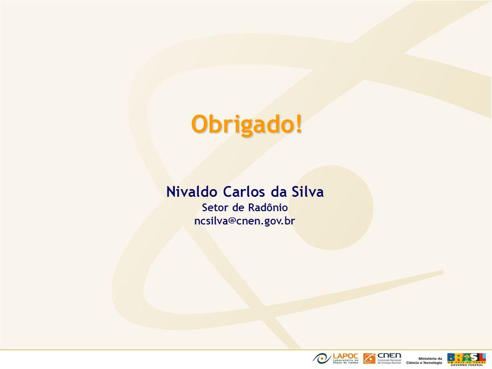 Obrigado! Nivaldo Carlos da Silva Setor de Radônio ncsilva@cnen.gov.br