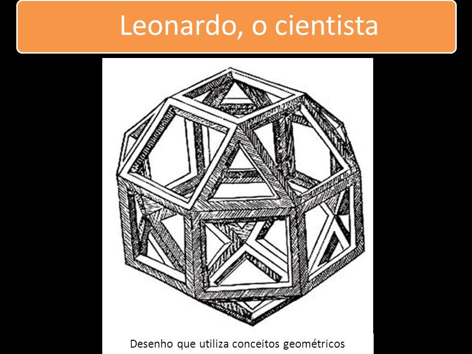 Leonardo, o cientista Desenho que utiliza conceitos geométricos