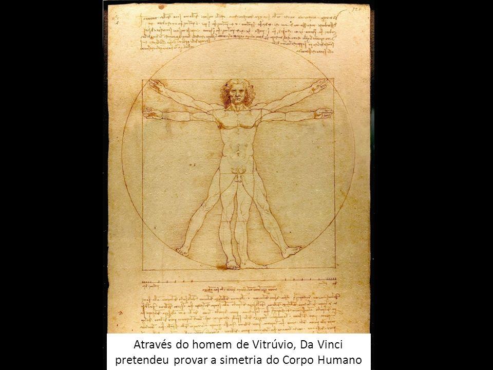 Através do homem de Vitrúvio, Da Vinci pretendeu provar a simetria do Corpo Humano