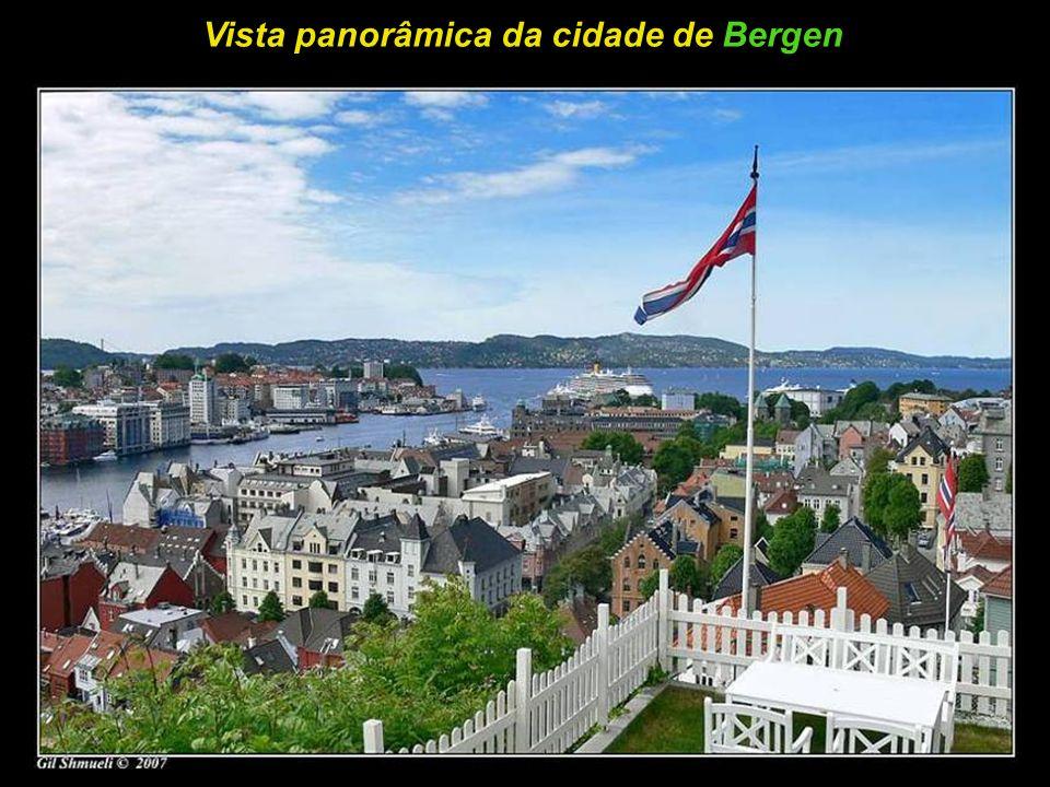 Muitos telhados, na zona velha da cidade de Bergen
