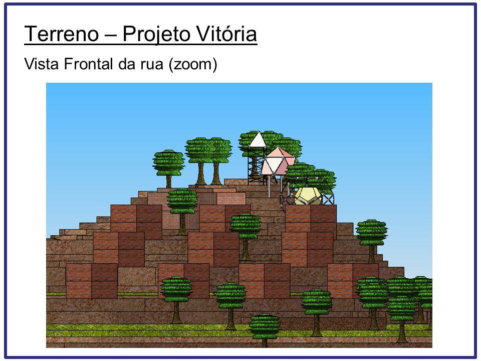 Terreno – Projeto Vitória Vista Frontal da rua (zoom)