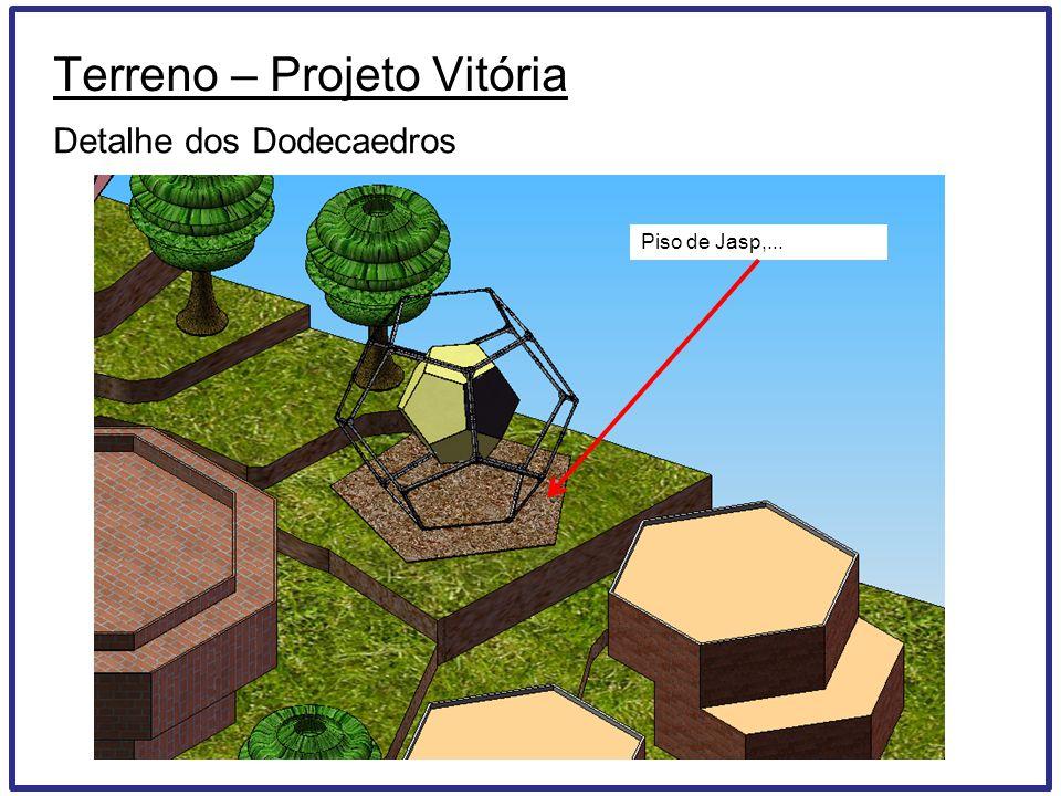 Terreno – Projeto Vitória Detalhe dos Dodecaedros Piso de Jasp,...