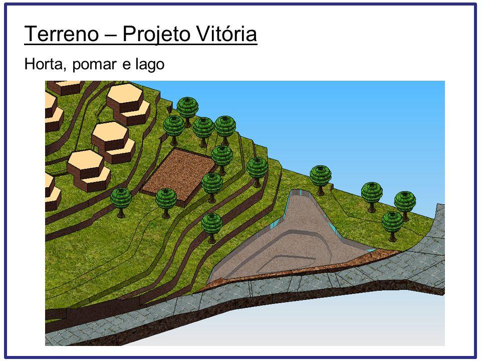 Terreno – Projeto Vitória Horta, pomar e lago