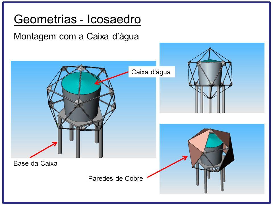 Geometrias - Icosaedro Montagem com a Caixa dágua Base da Caixa Caixa dágua Paredes de Cobre