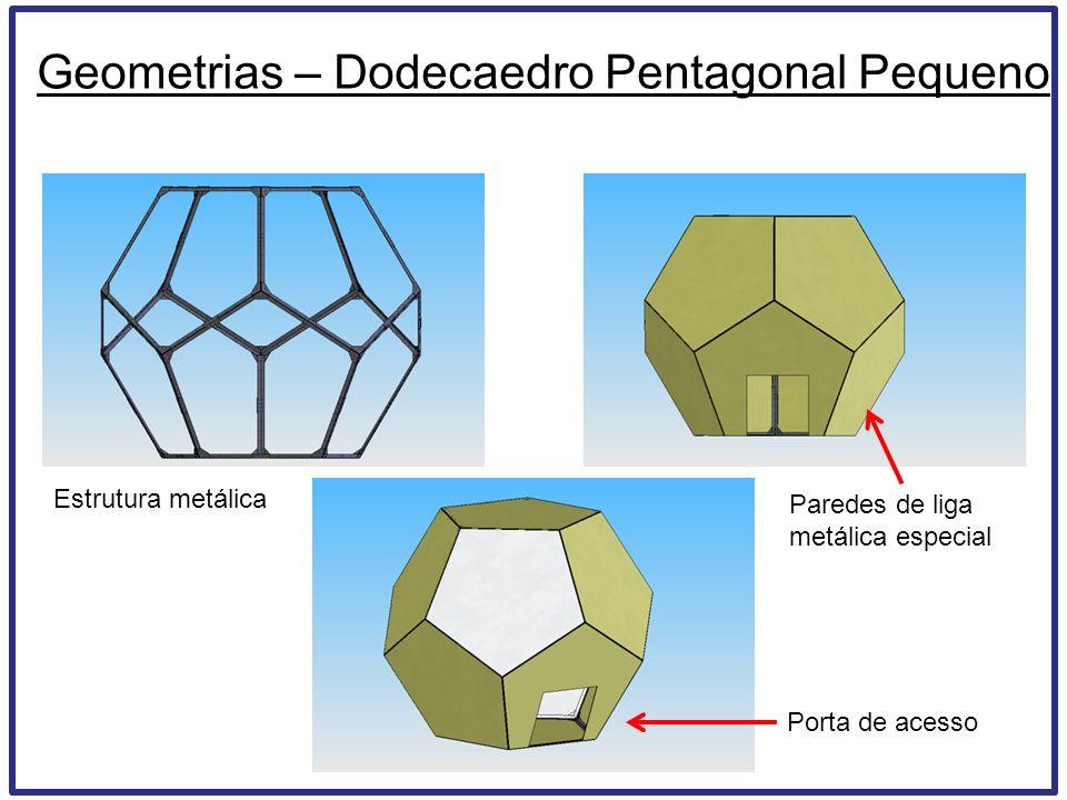 Estrutura metálica Paredes de liga metálica especial Geometrias – Dodecaedro Pentagonal Pequeno Porta de acesso