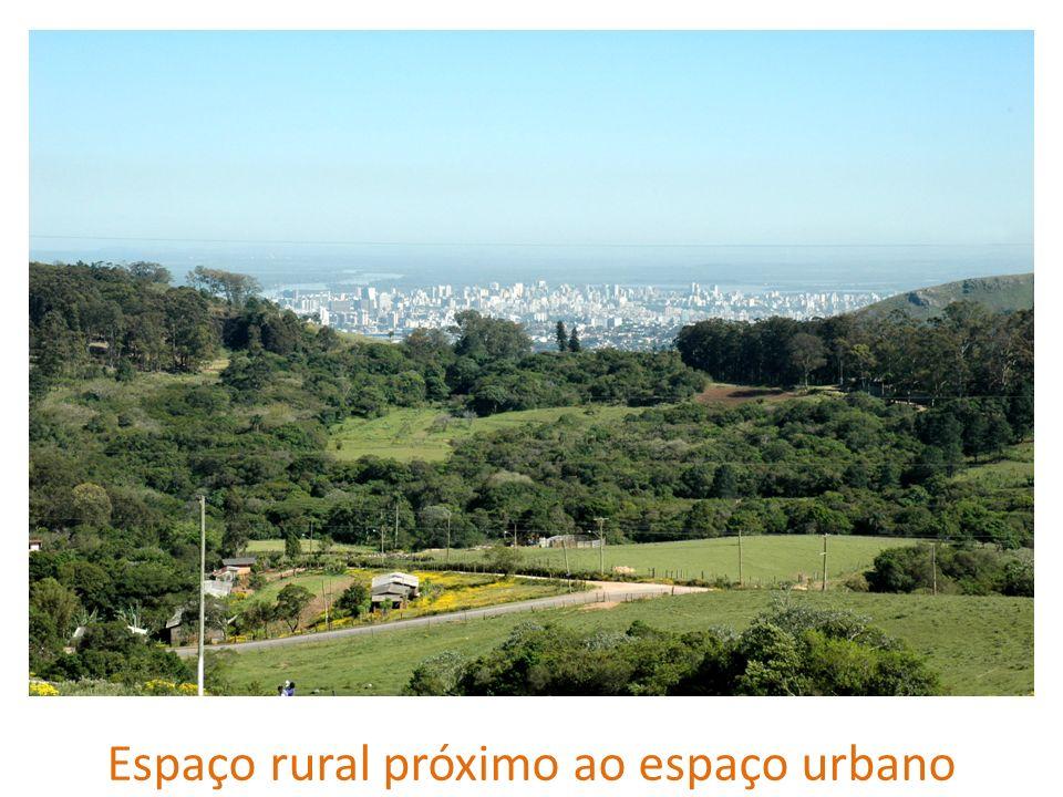 Espaço rural próximo ao espaço urbano
