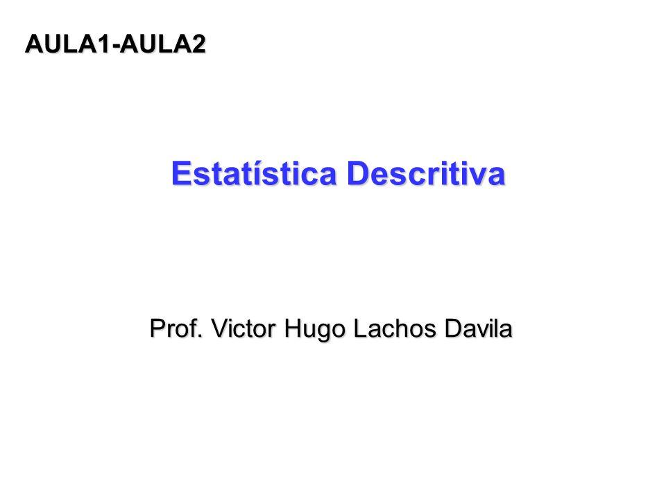 Estatística Descritiva Prof. Victor Hugo Lachos Davila AULA1-AULA2
