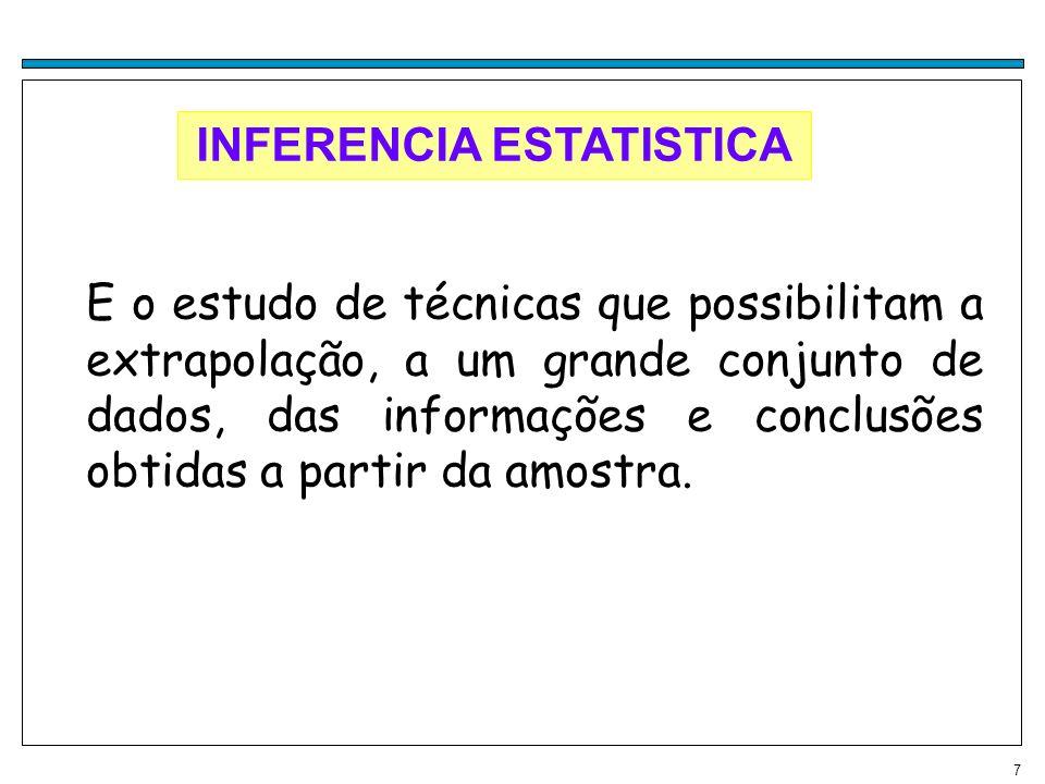 28 Intervalo-Interquartil (d) É a diferença entre o terceiro quartil e o primeiro quartil, ou seja, d= Q3-Q1 Ex(1): 15,5,3,8,10,2,7,11,12 Q1=4,5 e Q3=11,25 d =Q3-Q1=4,9-2,05=2,85 Max,Min,Q1,Q3,Q2: importantes para se ter uma boa ideia da forma dos dados (simetrica ou assimetrica) e construir box-plots