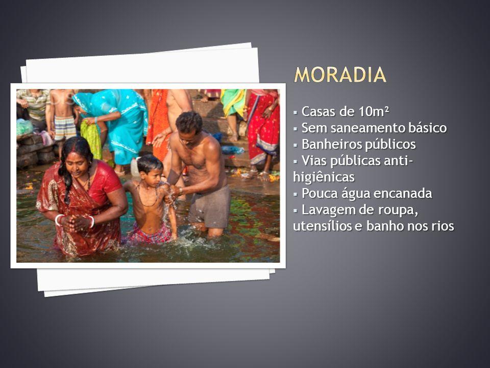 Casas de 10m² Casas de 10m² Sem saneamento básico Sem saneamento básico Banheiros públicos Banheiros públicos Vias públicas anti- higiênicas Vias públ