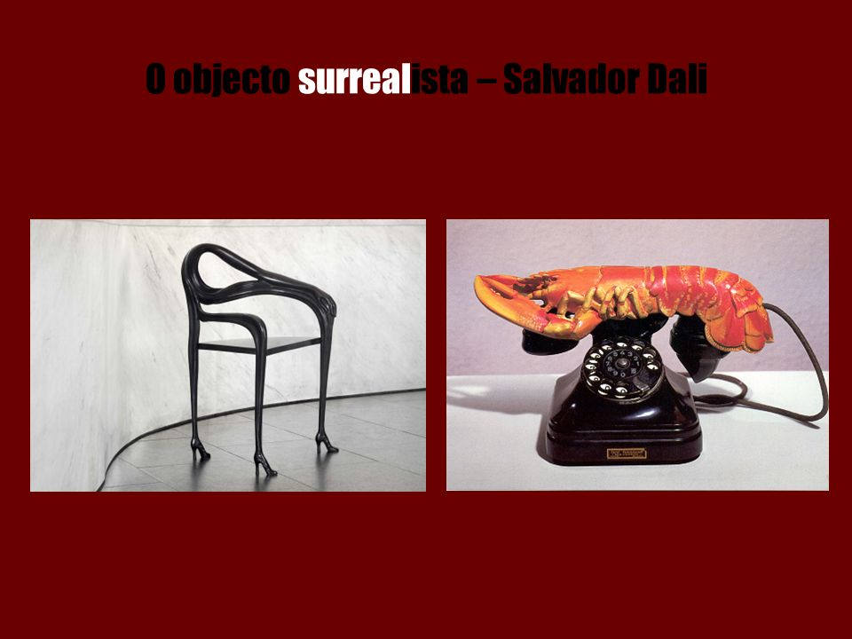 O objecto surrealista – Salvador Dali