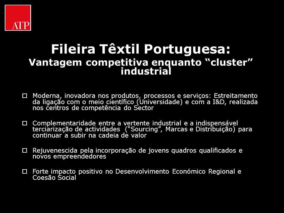 Fileira Têxtil Portuguesa: Vantagem competitiva enquanto cluster industrial Moderna, inovadora nos produtos, processos e serviços: Estreitamento da li