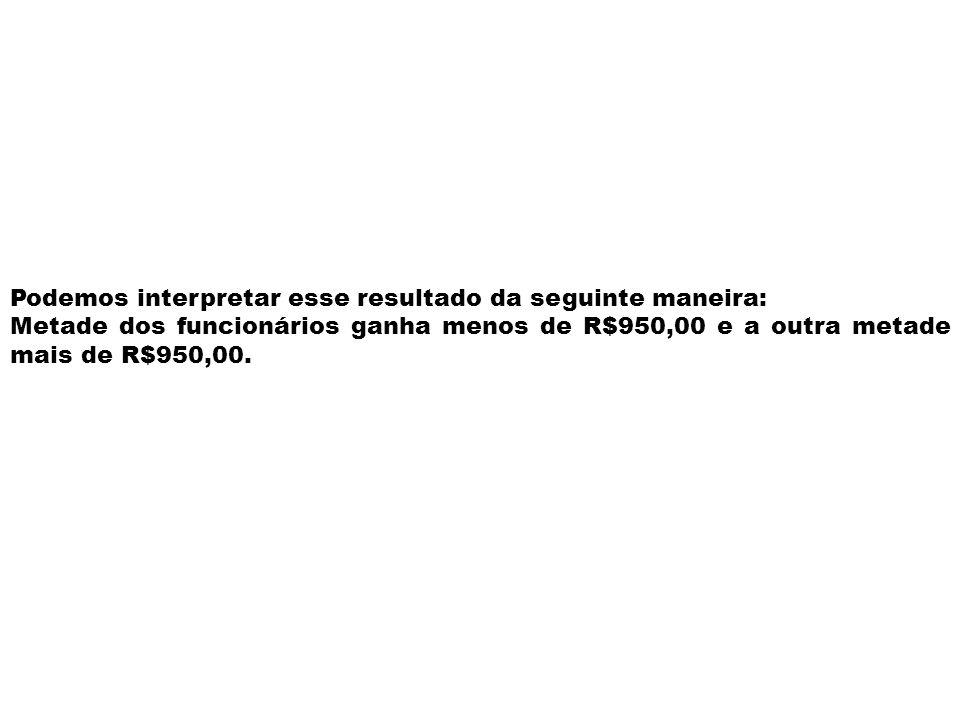 Situação 2: Se acrescentarmos à lista o salário de R$1.000,00 de outro funcionário, ficaríamos com um número par de dados numéricos: (700; 800; 900;10