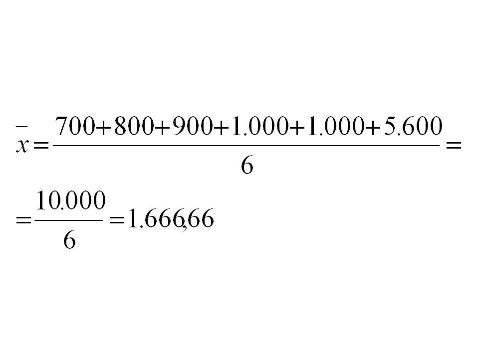 Note que a média aritmética desses valores é:
