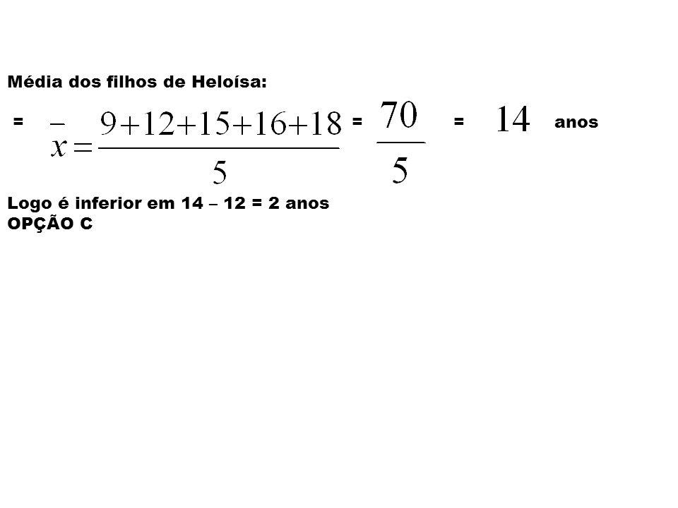 Solução: Ida de 78910111214151618 Fre q. 1112141211 Logo idade modal = 12 anos