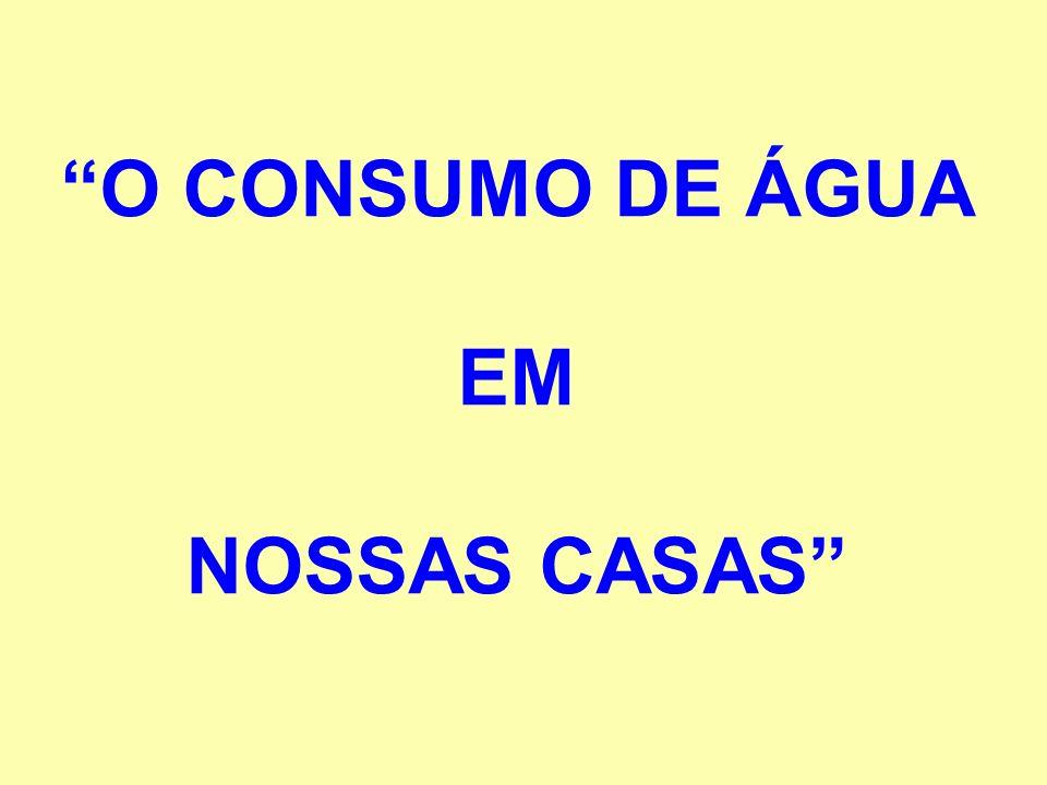 O CONSUMO DE ÁGUA EM NOSSAS CASAS