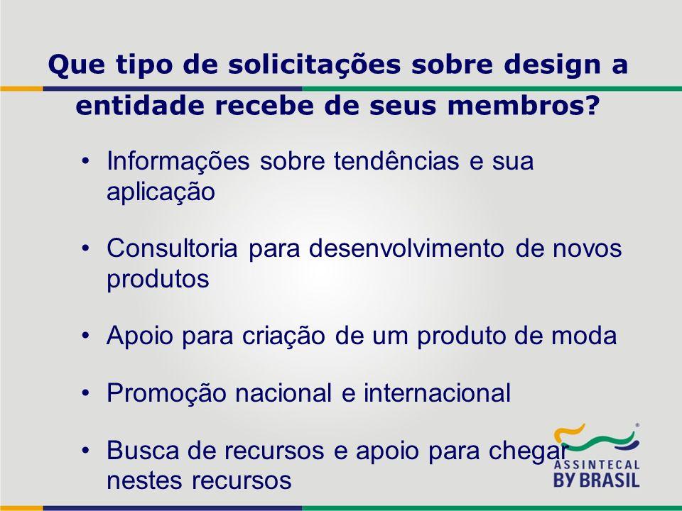 Que tipo de solicitações sobre design a entidade recebe de seus membros? Informações sobre tendências e sua aplicação Consultoria para desenvolvimento