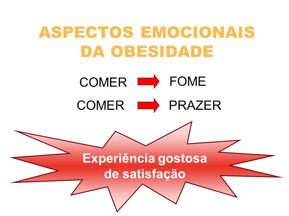 ASPECTOS EMOCIONAIS DA OBESIDADE COMER FOME COMER PRAZER Experiência gostosa de satisfação
