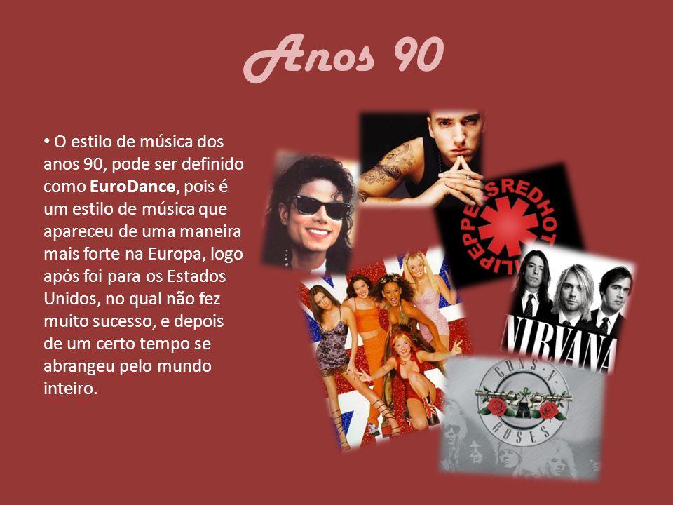 Referências http://pt.wikipedia.org/wiki/D%C3%A9cada_de_1990 http://pt.wikipedia.org/wiki/Rock http://www.noticiasautomotivas.com.br/eurodance-dance- music-anos-90/ http://blogamos.com/as-100-melhores-musicas-dos-anos-90 Textos: