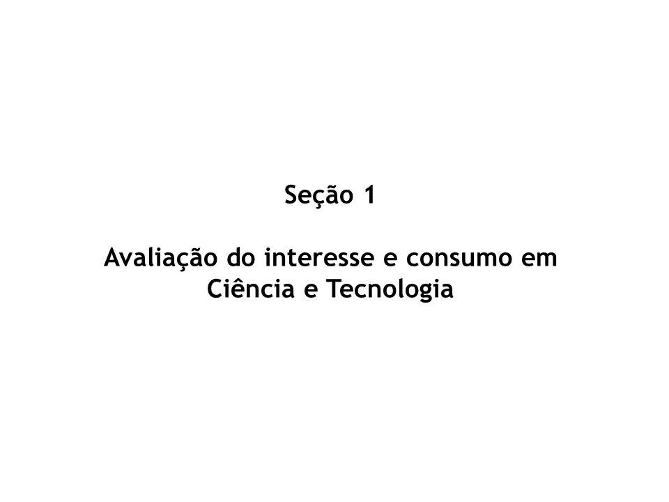 Seção 1 Avaliação do interesse e consumo em Ciência e Tecnologia