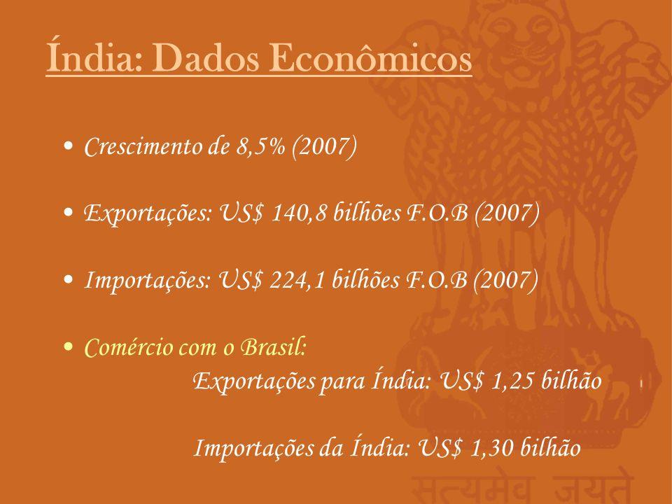Crescimento de 8,5% (2007) Exportações: US$ 140,8 bilhões F.O.B (2007) Importações: US$ 224,1 bilhões F.O.B (2007) Comércio com o Brasil: Exportações