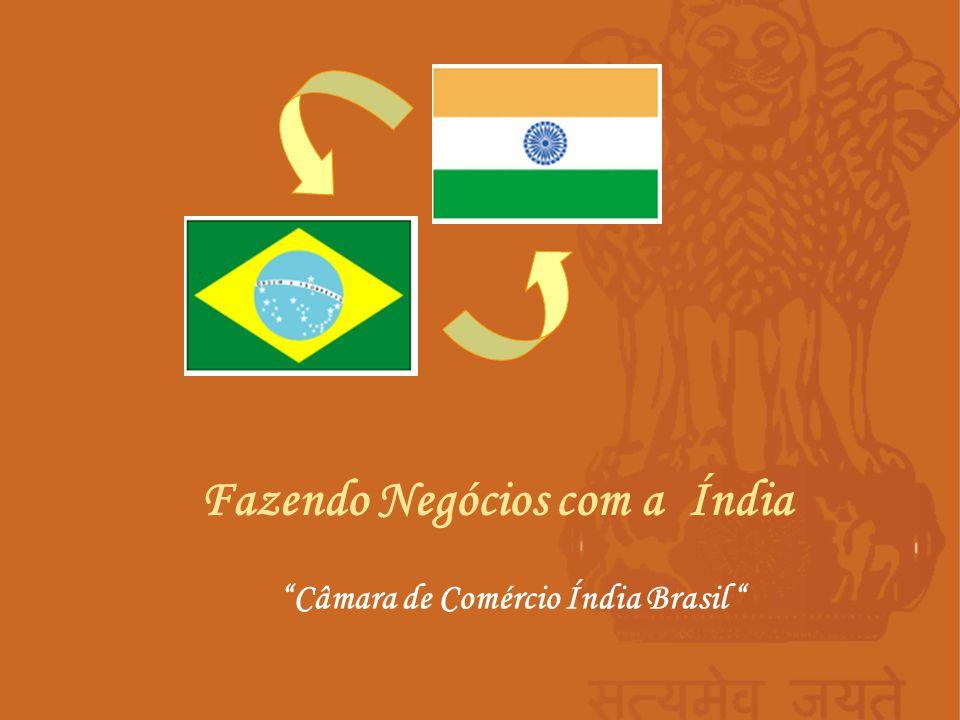 Fazendo Negócios com a Índia Câmara de Comércio Índia Brasil