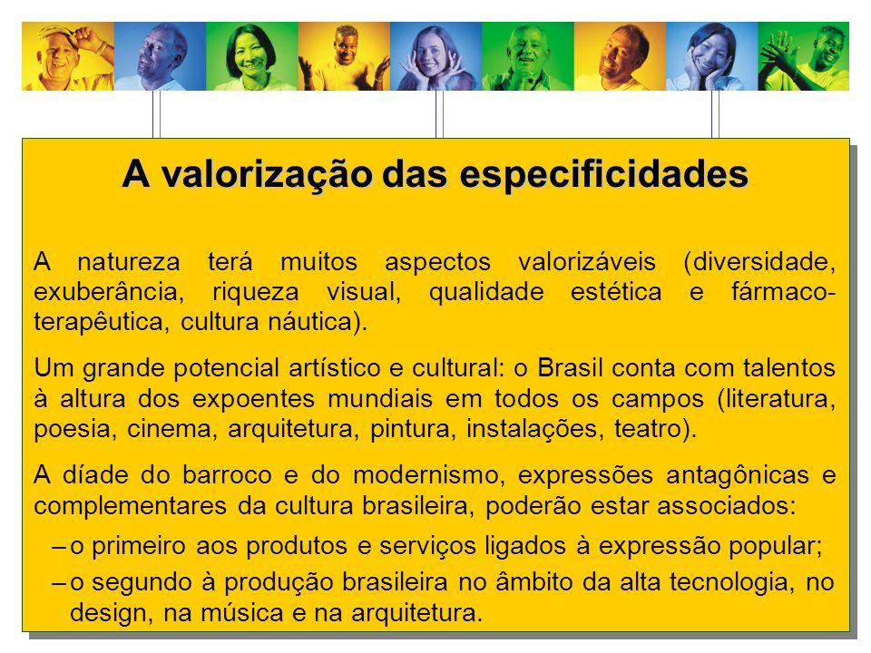 A valorização das especificidades A natureza terá muitos aspectos valorizáveis (diversidade, exuberância, riqueza visual, qualidade estética e fármaco