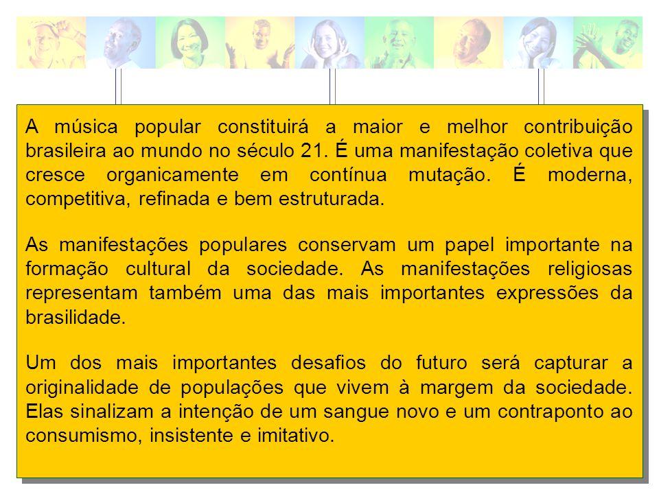 A música popular constituirá a maior e melhor contribuição brasileira ao mundo no século 21. É uma manifestação coletiva que cresce organicamente em c