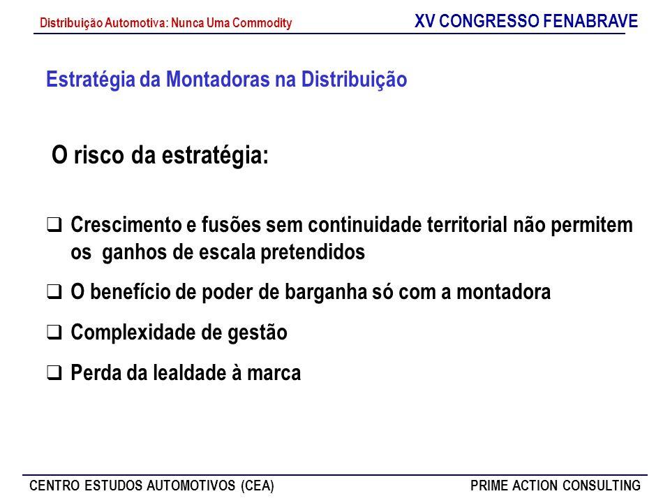 XV CONGRESSO FENABRAVE CENTRO ESTUDOS AUTOMOTIVOS (CEA)PRIME ACTION CONSULTING Distribuição Automotiva: Nunca Uma Commodity Estratégia da Montadoras n