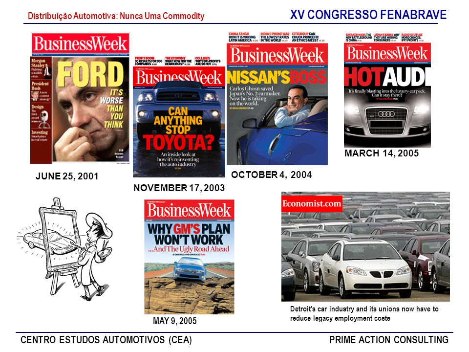 XV CONGRESSO FENABRAVE CENTRO ESTUDOS AUTOMOTIVOS (CEA)PRIME ACTION CONSULTING Distribuição Automotiva: Nunca Uma Commodity O que a História Ensina ao Setor Automotivo.