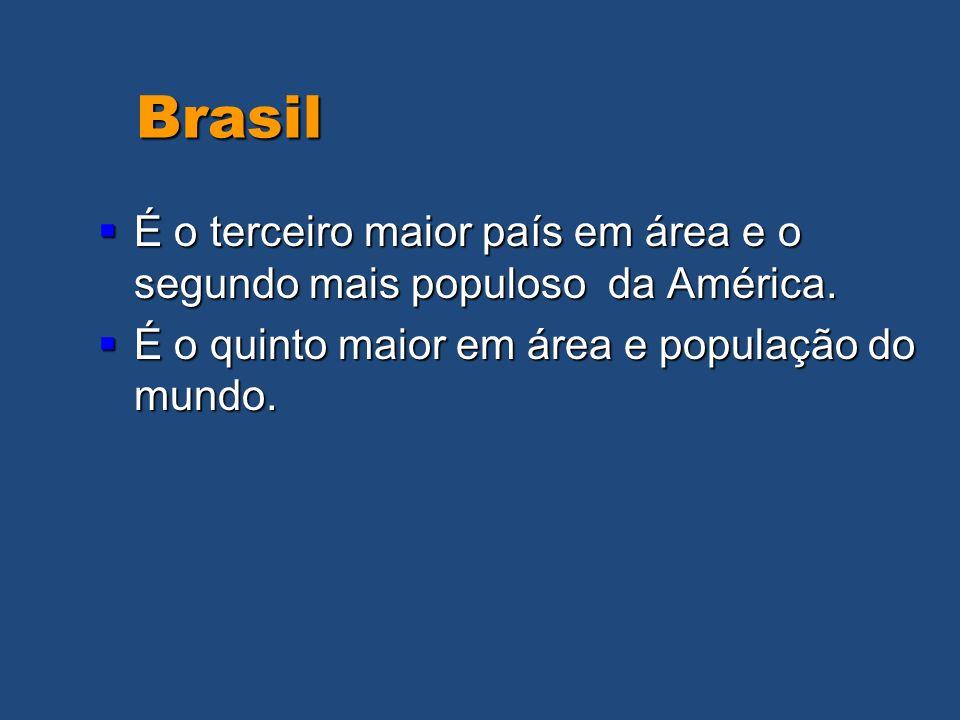 Brasil Brasil É o terceiro maior país em área e o segundo mais populoso da América. É o terceiro maior país em área e o segundo mais populoso da Améri