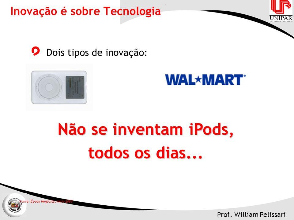 Prof.William Pelissari Não se inventam iPods, todos os dias...
