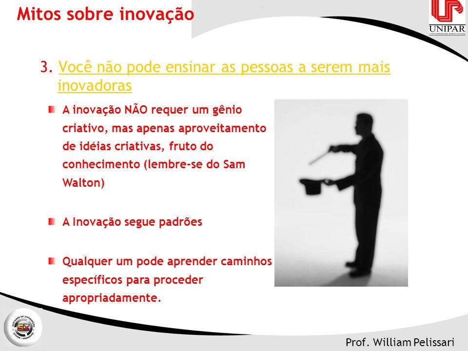 Prof.William Pelissari Mitos sobre inovação 3.