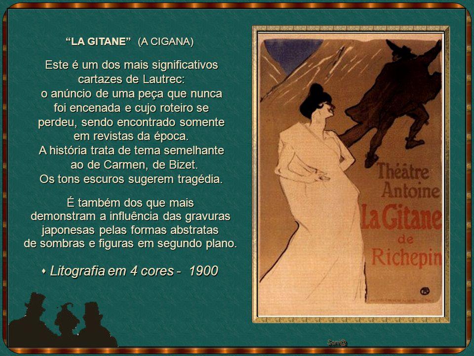 JANE AVRIL DANÇANDO (com seu inseparável boá) -1893 Óleo sobre tela - 101 x 75 cm