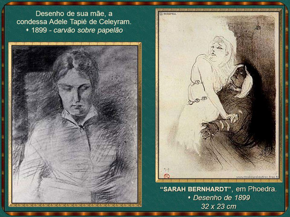 DUAS MULHERES VALSANDO (1892) Óleo sobre papelão Óleo sobre papelão 93 x 80 cm Lautrec procurou destacar o diferente, grupo do qual fazia parte.