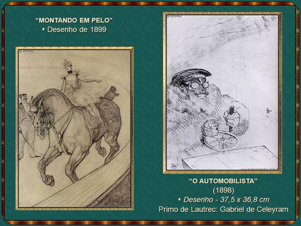NO CIRCO Desenho de 1899 sobre papelão Desenho de 1899 sobre papelão Selo francês estampado com uma das obras de Toulouse - Lautrec.