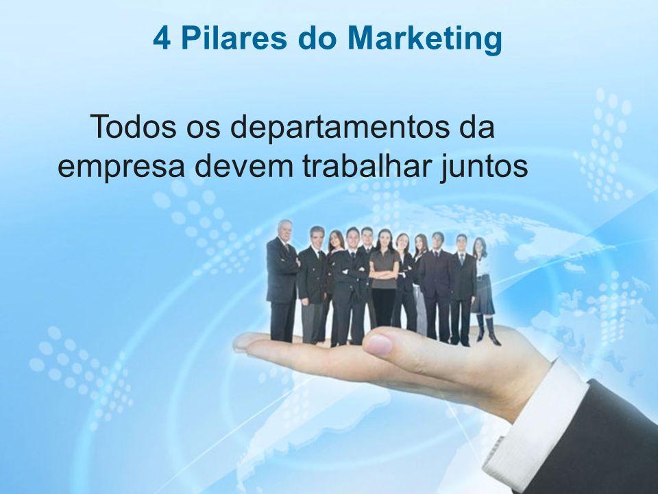 20 Todos os departamentos da empresa devem trabalhar juntos 4 Pilares do Marketing