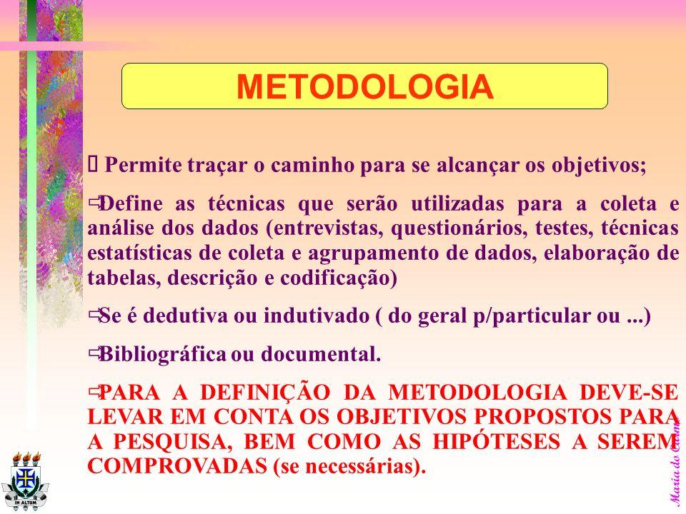 Maria do Carmo O pesquisador deverá: Explicar os motivos que indicam a viabilidade de execução da proposta relacionados à viabilidade técnica, finance