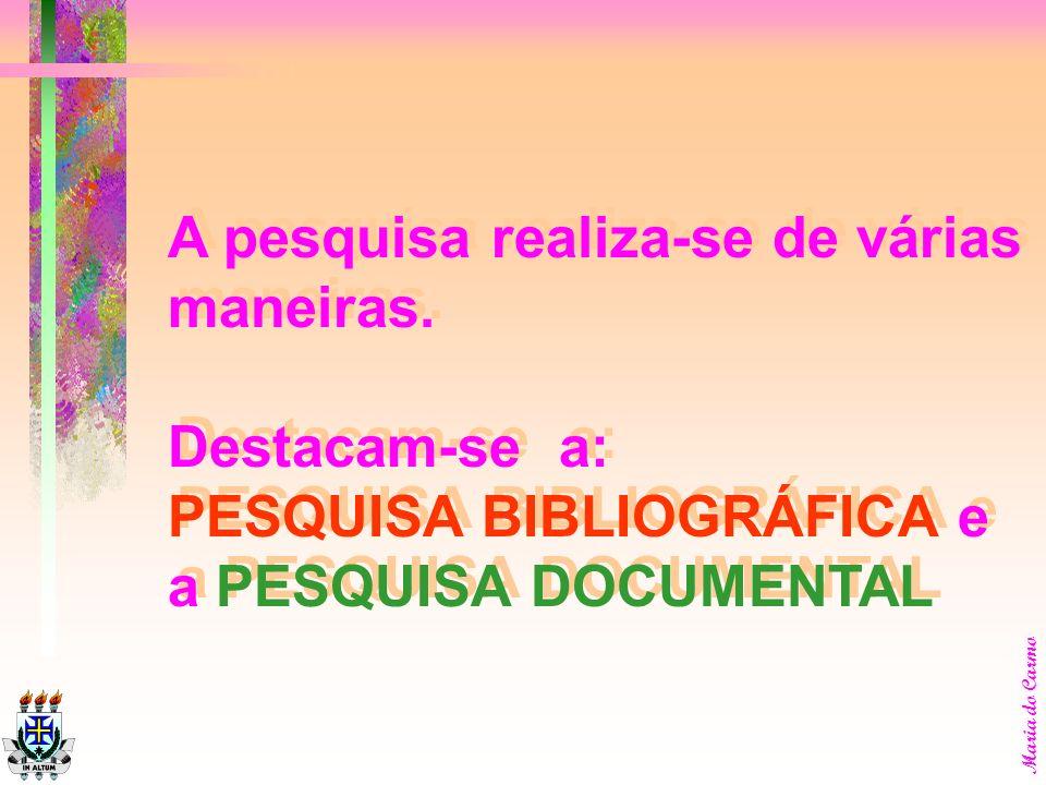 Maria do Carmo busca de provas, propriamente ditas; considerações sobre a hipótese formulada originalmente; exposição e discussão das sugestões, resul