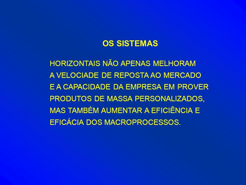 OS SISTEMAS HORIZONTAIS NÃO APENAS MELHORAM A VELOCIADE DE REPOSTA AO MERCADO E A CAPACIDADE DA EMPRESA EM PROVER PRODUTOS DE MASSA PERSONALIZADOS, MA