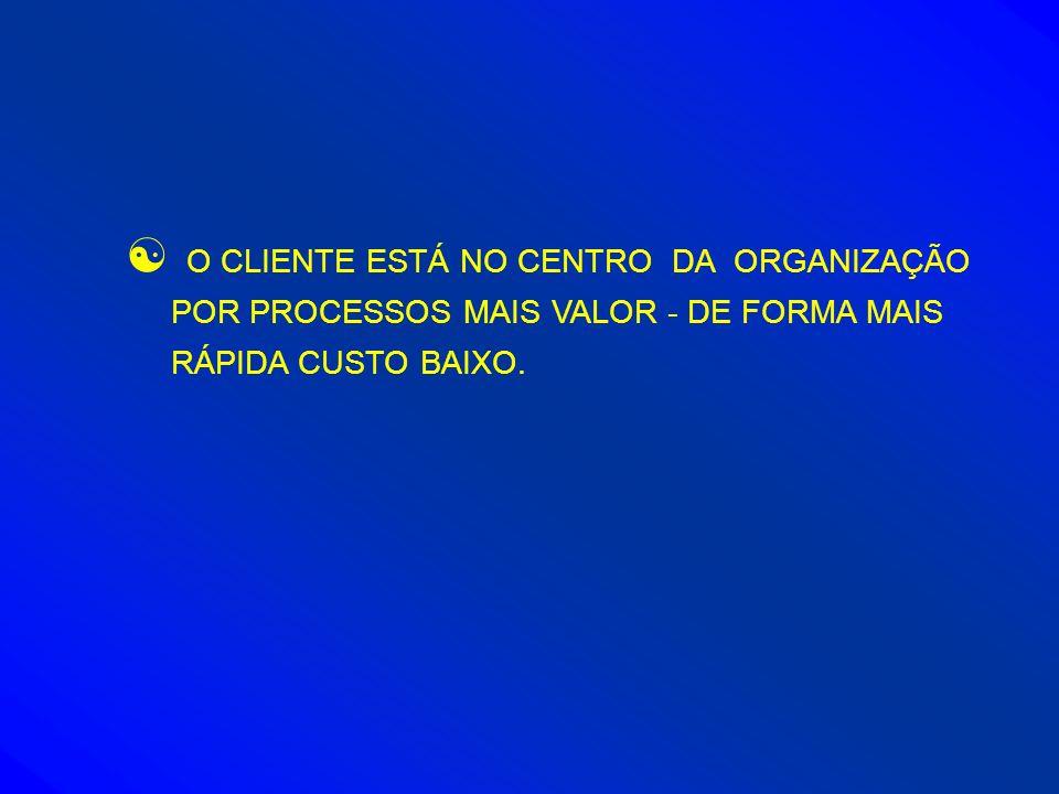 [ O CLIENTE ESTÁ NO CENTRO DA ORGANIZAÇÃO POR PROCESSOS MAIS VALOR - DE FORMA MAIS RÁPIDA CUSTO BAIXO.