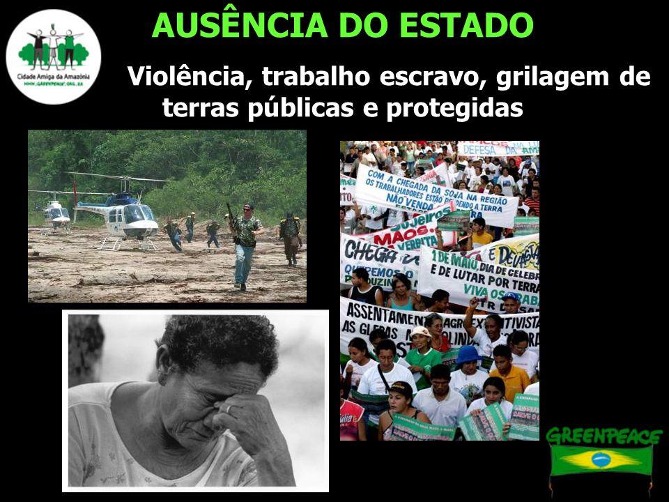 AUSÊNCIA DO ESTADO Violência, trabalho escravo, grilagem de terras públicas e protegidas