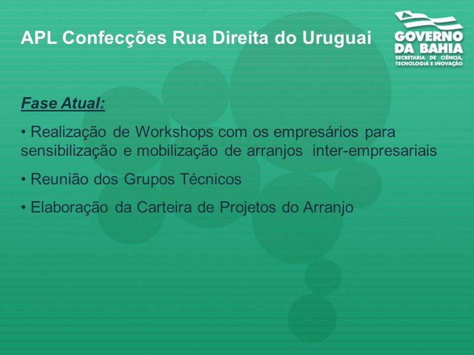 Modelo de Governança APL de Confecções APL Confecções Rua Direita do Uruguai UFBA UCSAL Empresas AR-2 Afro Bahia SINDVEST CAMMPI SECTI SICM SECOMP Bco
