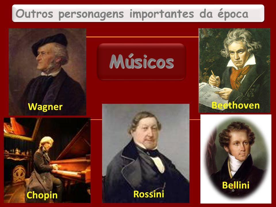 Outros personagens importantes da época Wagner Beethoven Chopin Rossini Bellini MúsicosMúsicos 20
