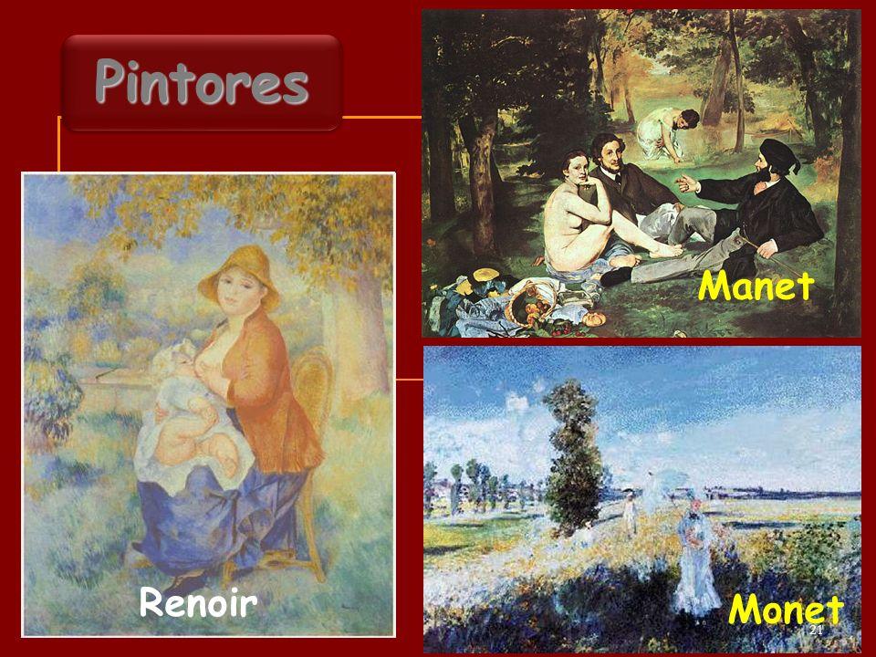 Manet Renoir Monet PintoresPintores 21