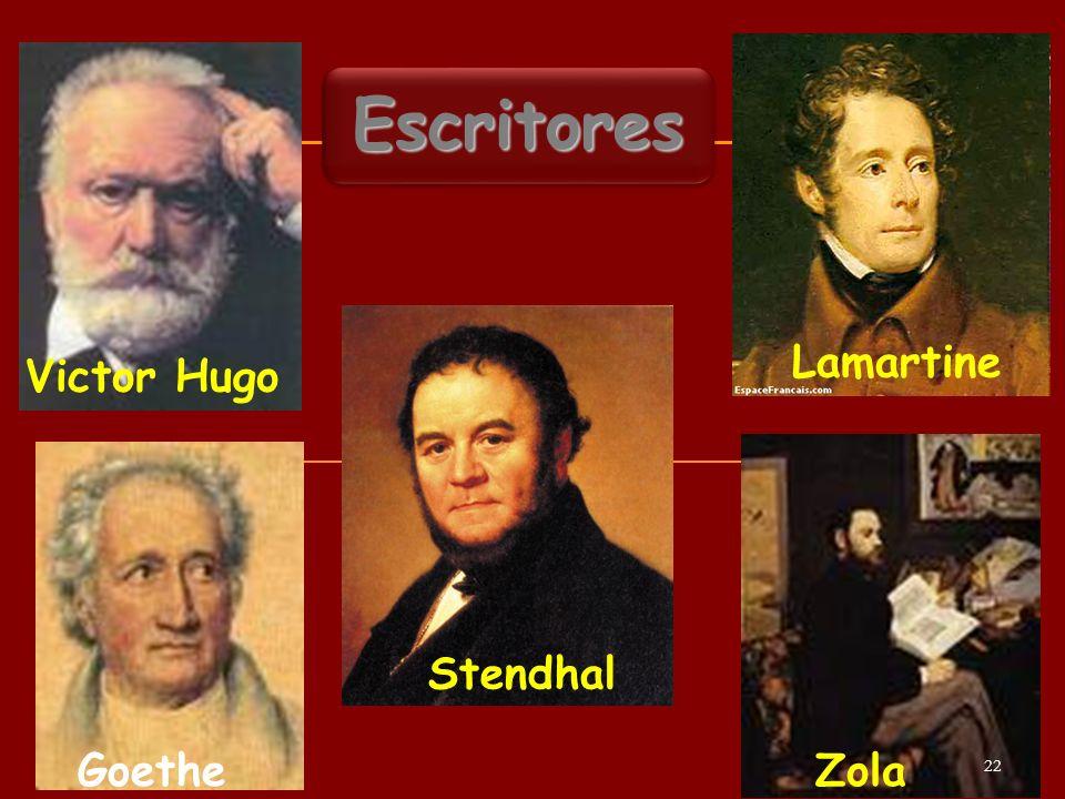 Victor Hugo EscritoresEscritores Zola Stendhal Goethe Lamartine 22