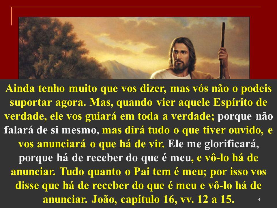 O Advento do Espírito de Verdade que o mundo não pode receber, porque não o vê, nem o conhece, não estaria consubstanciado em uma personalidade perecível.